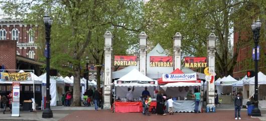Portland Saturday Market Entrance