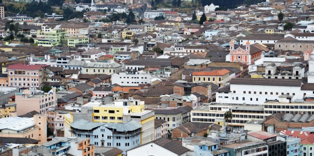View of Quito from La Basilica