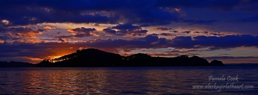 Sunset at Bay of Islands