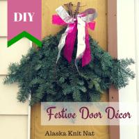 Ill have a glue, glue Christmas  #3: DIY Festive Door ...