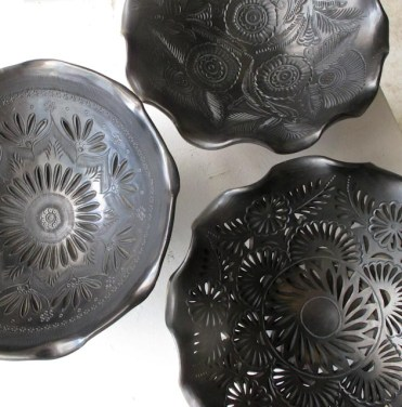 Black Pottery Bowls