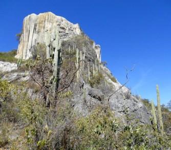 View of main petrified falls