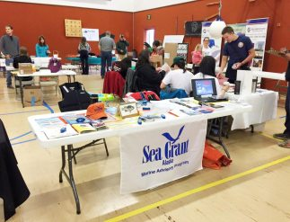 Alaska Sea Grant trade show table