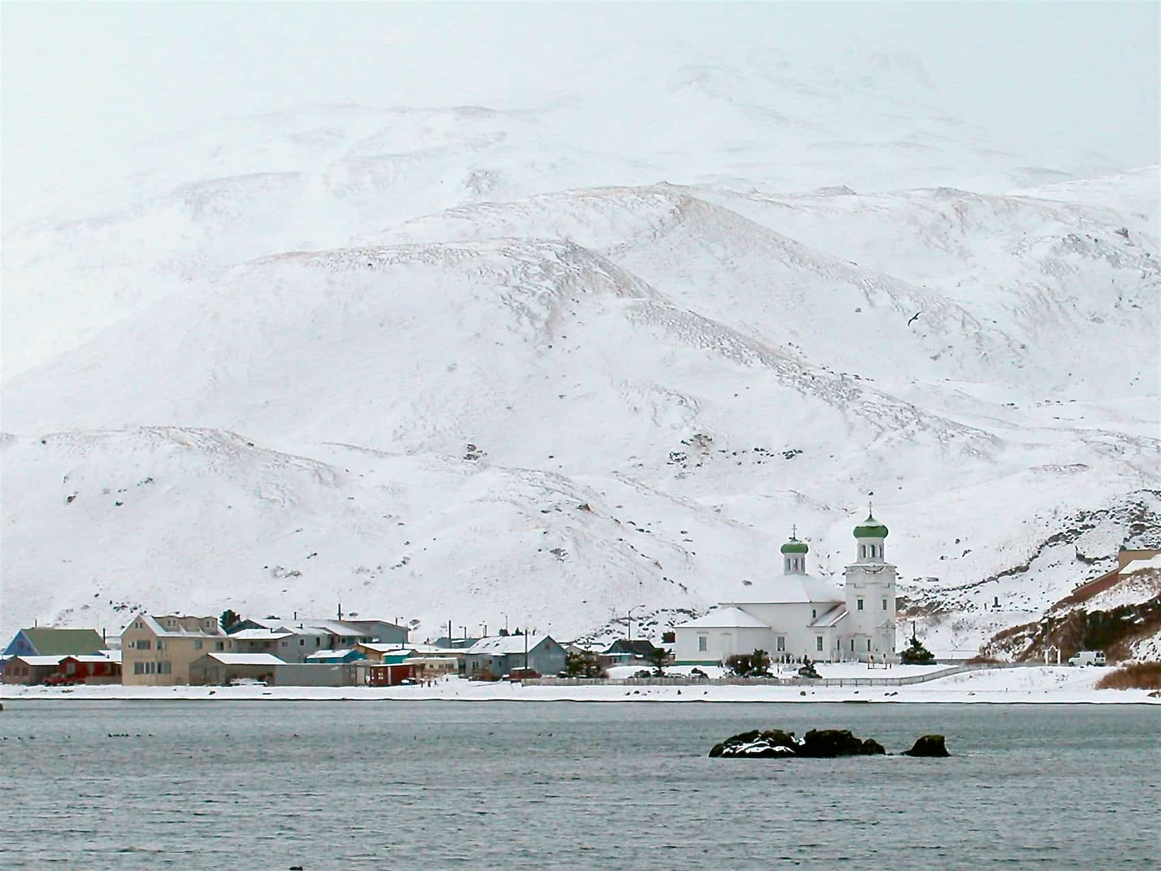 unalaska in the snow