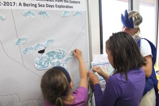 Students play king crab habitat mapping game