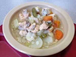 bowl of fish soup