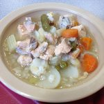 bowl of fish soup