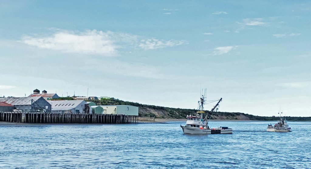 Fishing boats of the coast of Dillingham