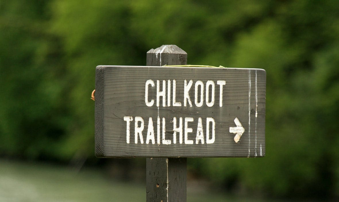 Chilkoot Trailhead Sign, things to do in Skagway Alaska with Alaska Shore Tours