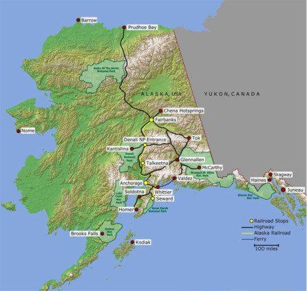 Alaska Map Alaska Travel Distances Times CitytoCity