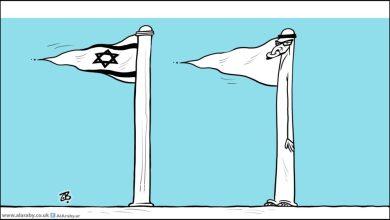 صورة النكتة العربية السمجة:تطبيع تهويدي  وإدعاء بثبات الموقف من القضية