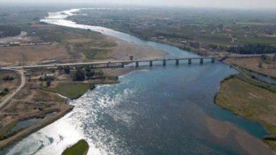 صورة نهر الفرات يلفظ انفاسه