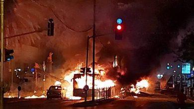صورة تل ابيب تحترق .. ايران هي السبب !