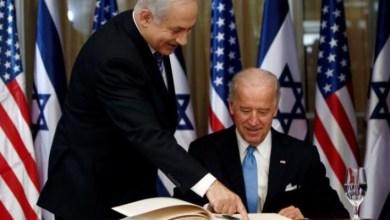 صورة الرئيس الأمريكي  وتباين المواقف  مع إسرائيل