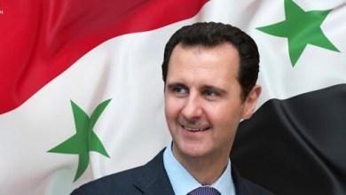 صورة إلى الرئيس السوري بشار الأسد تهنئة النصر