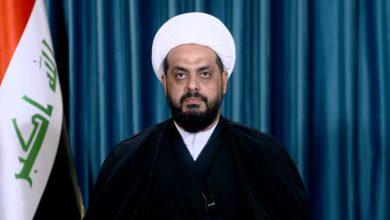 صورة كلمة الشيخ قيس الخزعلي بشأن البيان الختامي للمفاوضات بين العراق وامريكا