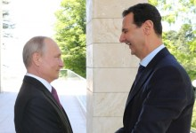 صورة بوتين يستقبل الأسد: شعبك يثق بك
