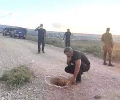 صورة إعادة إعتقال أسرى جلبوع حفر في مؤخرات الاقليم