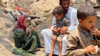 صورة القتل والتجويع بصمات صمتها .. الأمم المتحدة سلاح العدوان الفتاك .؟!