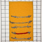 Tapestry weaving and barbed wire