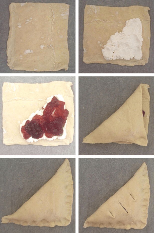 Strawberry Ricotta Turnover Method