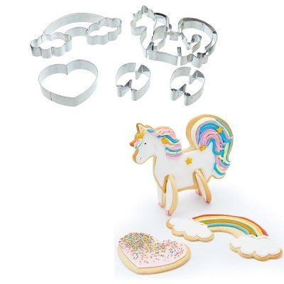 3D Unicorn Cookie Cutters