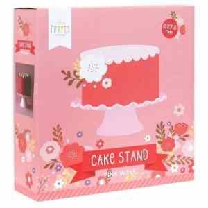 roze taartplateau met golfjes