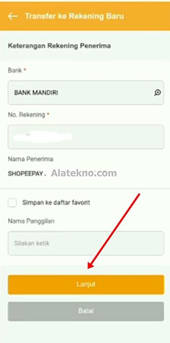 Cara Top Up Shopeepay lewat M Banking Danamon 2