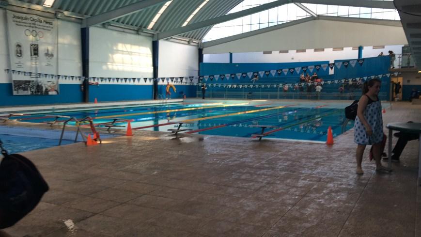 Foto de la alberca del Centro Deportivo Joaquín Capilla en donde entreno