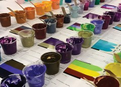 Meracik warna tinta sablon