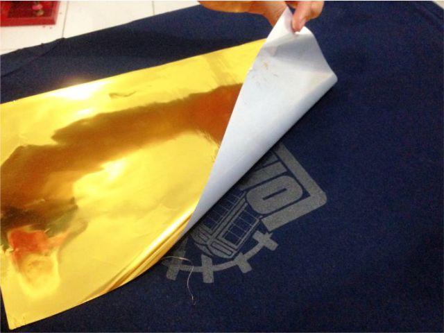 cara sablon foil emas