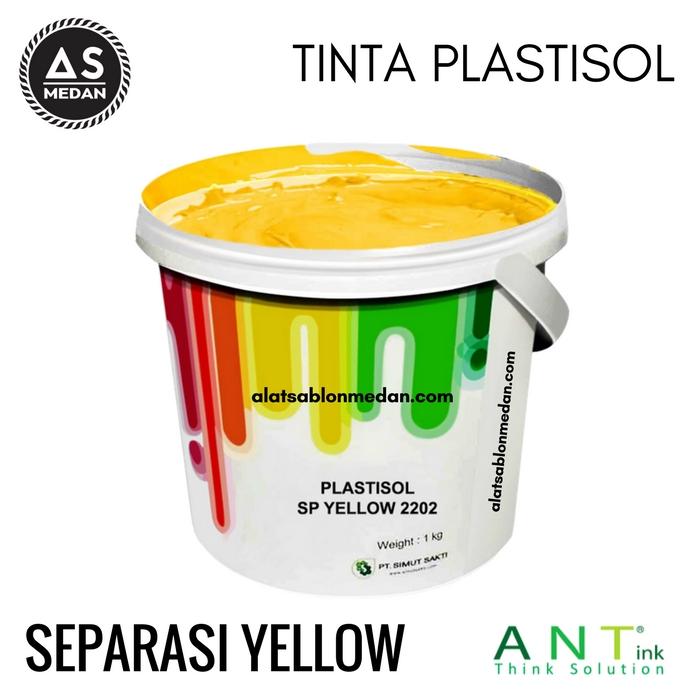 Tinta Sablon Kaos Ant ink Plastisol Separasi Yellow