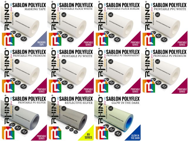 Bahan Sablon Polyflex Rhino Printable (Rhinoflex)