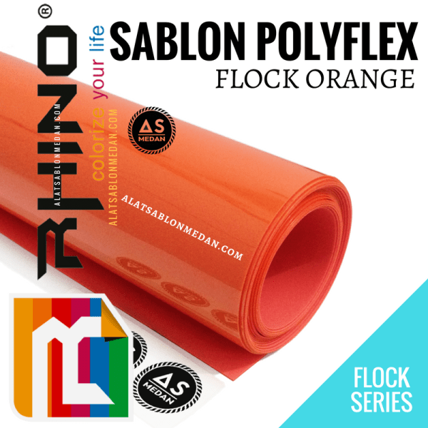 Polyflex Korea Rhino Flock Orange
