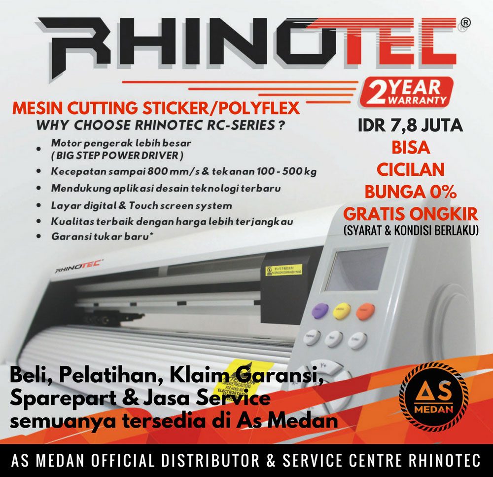 Mesin cutting sticker rhinotec