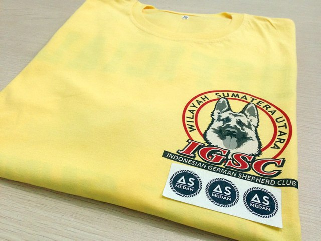 Printing kaos Indonesia German Sepherd Club