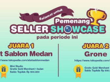 AS MEDAN pemenang juara 1 Seller Showcase Tokopedia
