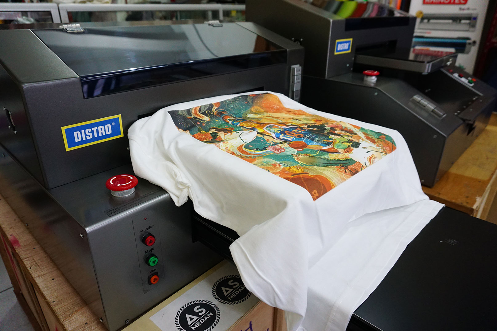 Mesin printer sablon DTG full color A3