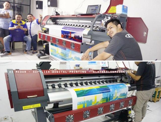 Pelanggan As Medan yg membeli mesin digital printing indoor