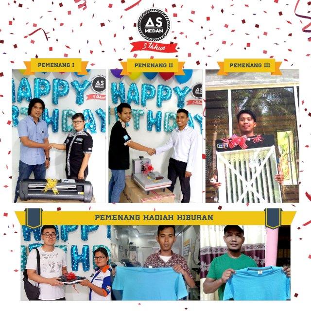 Pemenang Hadiah Ulang Tahun As Medan ke 3