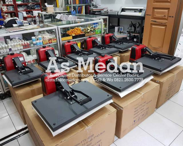Mesin Heat Press Kaos Fortex USA