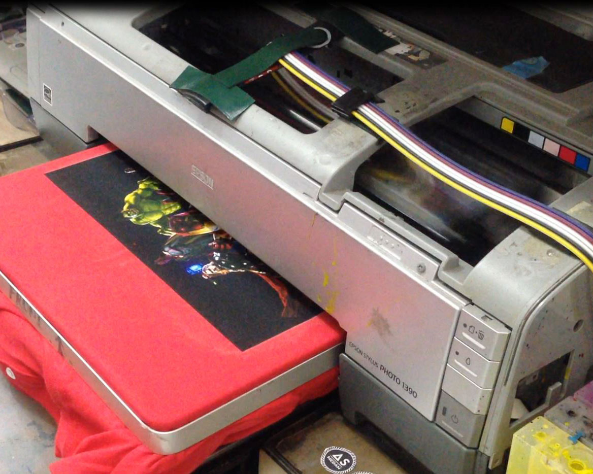 Cara membuat printing kaos DTG