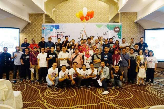 Grand Launching Rhino EZ Paper Medan & Anniversary As Medan Alat Sablon Medan ke 4