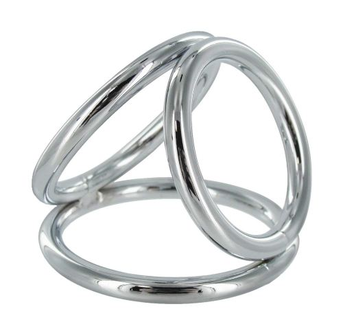 COCK CAGE RING STAINLESS STEEL Master Series Triad Chamber