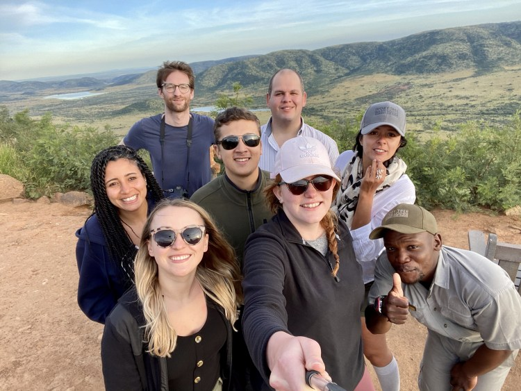 Group selfie in Pilanesberg National Park