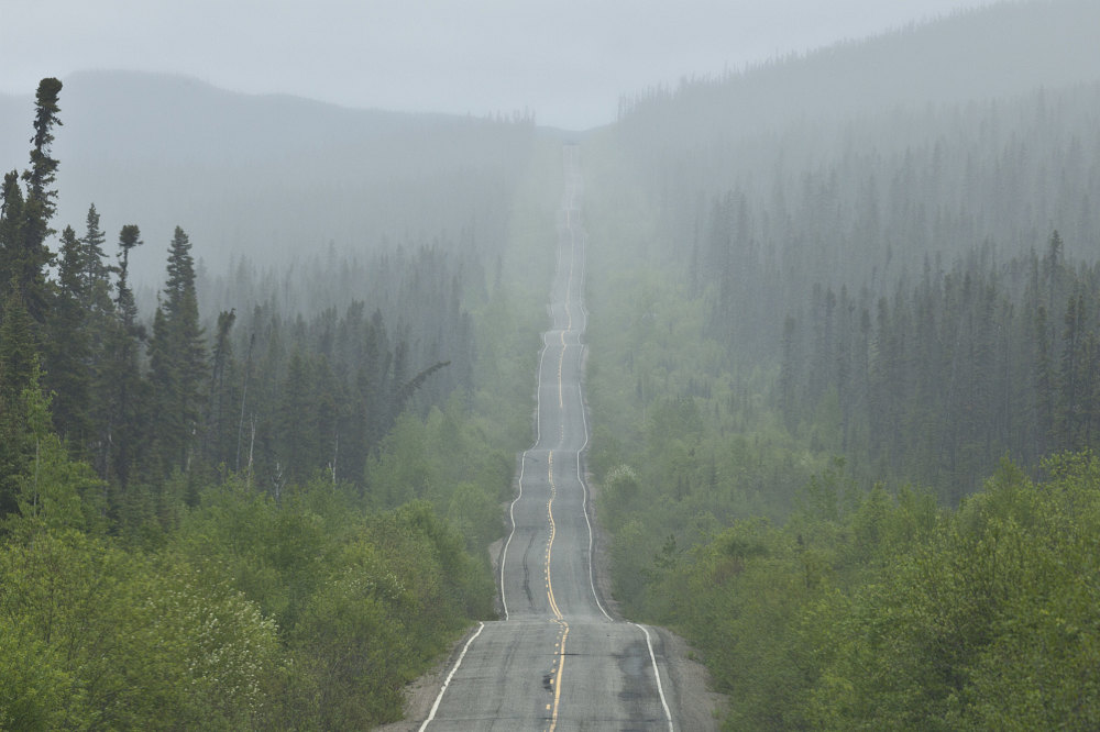 Back to pavement on 389  Quebec Highway 389  A highway