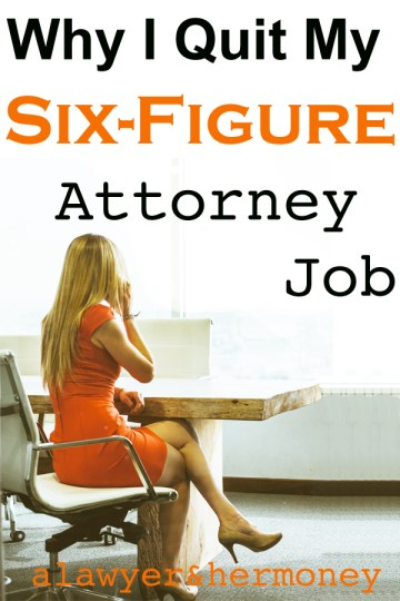 why i quit my six-figure law firm job