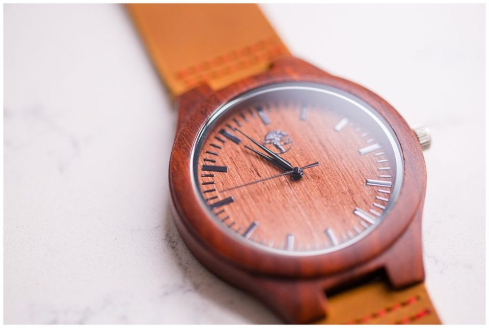 close up image of wooden watch face