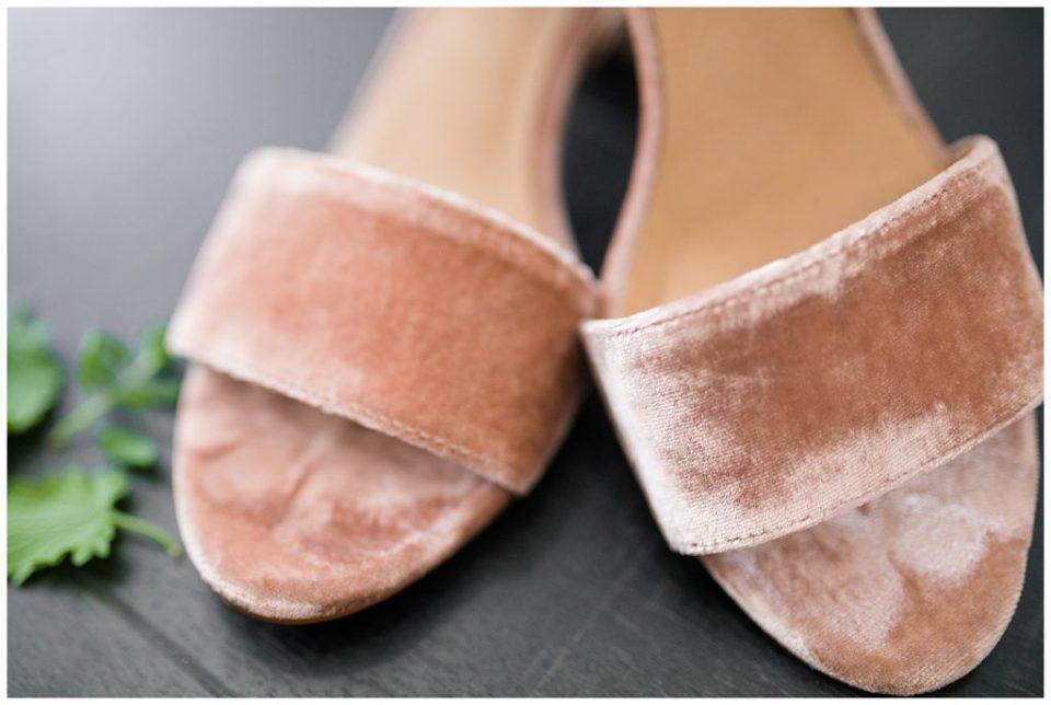 dusty rose velvet heels