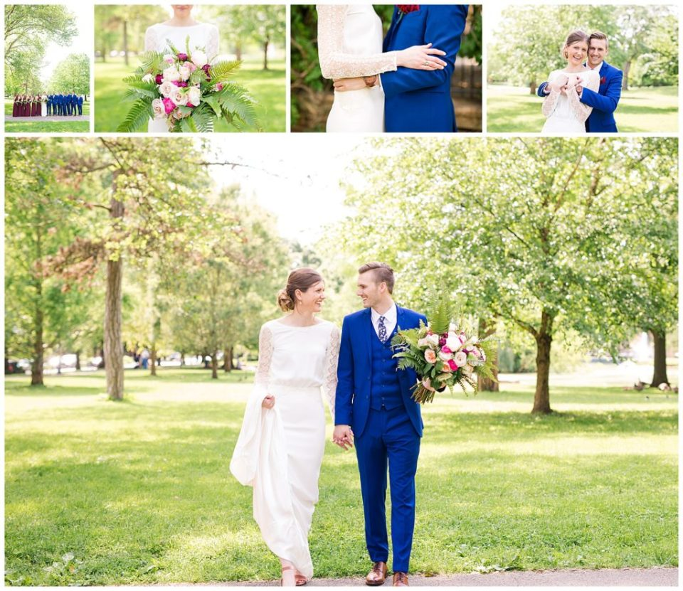 Collage of images from Libby & Todd's wedding at Dock 580 in downtown Columbus Ohio by Alayna Parker Photography